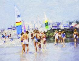C09BeachPeople20X20